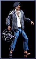 Ghostbusters Series 5 Taxi Driver Zombie Diamond Select Action Figure NEW