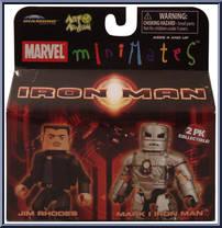 Marvel Minimates Series 21 Iron Man Movie Mark I IRON MAN /& JIM Rhodes