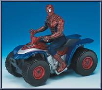Spider man quad spider man movie bump go cycle toy biz action figure - Quad spiderman ...