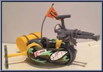 TMNT Teenage Mutant Ninja Turtles 1989 Sewer Army Tube Gray Support Part