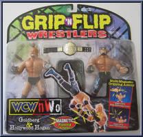 Goldberg Amp Hollywood Hogan Wcw Grip N Flip Toy Biz