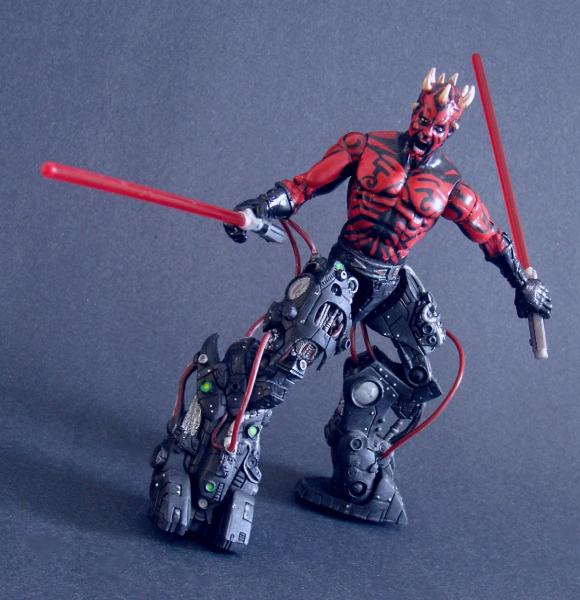 Darth maul cyborg action figure