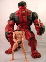Nude Deadpool and Red Hulk By TonyzCustomz