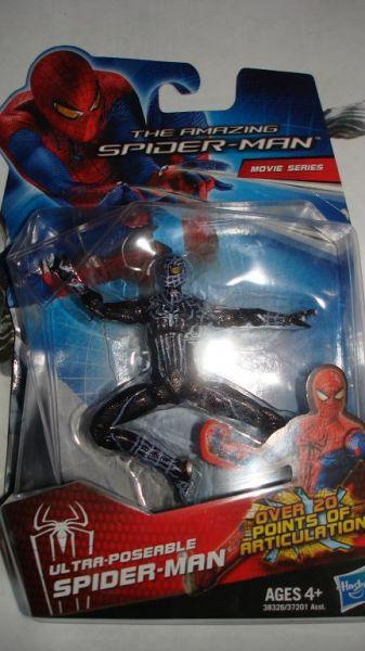 Amazing spider-man new movie black suit custom action figure
