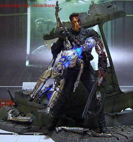 T 850 Terminator Battle Damaged Terminator T-850 (Terminator) Custom Action Figure
