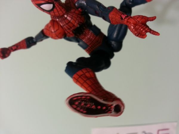 Amazing spider man 2 webshooters and under shoes custom custom action