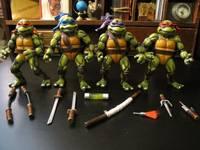 Custom Set Vintage Movie Star Teenage Mutant Ninja Turtles 1990