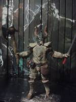 Dragonborn In Dragon Bone Armor Skyrim Custom Action Figure Low price for bone armor figure realm
