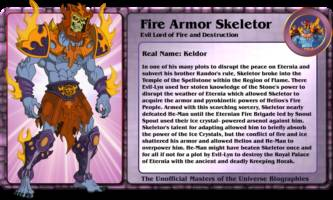 FIRE ARMOR SKELETOR evil lord of fire and destruction