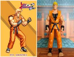 Ryo Sakazaki Art Of Fighting Custom Action Figure