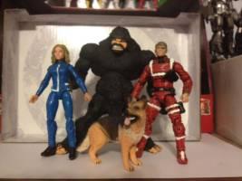 Six Million Dollar Man Bionic Woman Max And Bigfoot Six Million Dollar Man Custom Action Figure