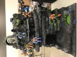 snake mountain masters of the universe custom diorama playset