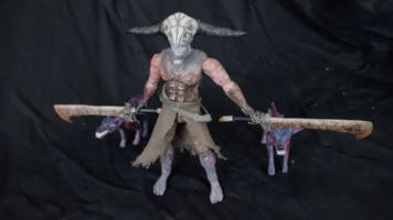 Capra Demon and Undead Attack Dog statues (Dark Souls) Custom Action